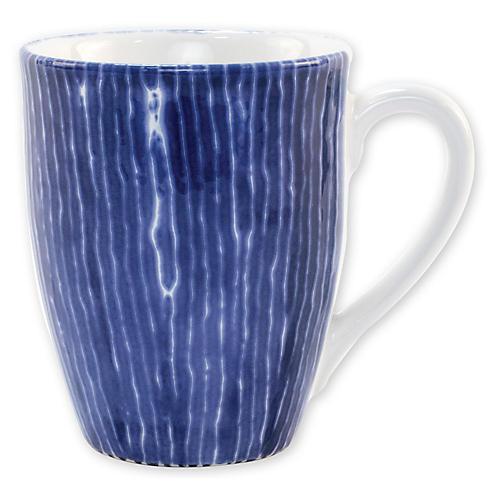 Santorini Stripe Mug, Blue/White