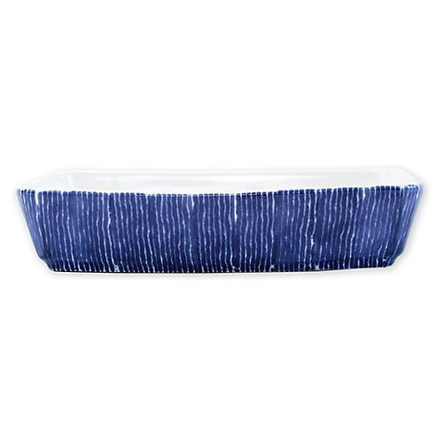 Santorini Rectangular Baker, Blue/White