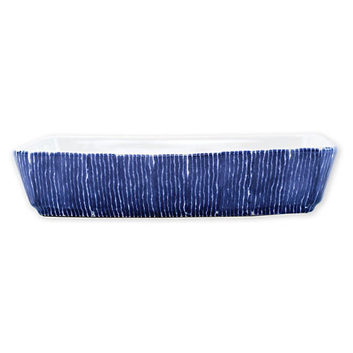 Santorini Rectangular Baker, Blue/White