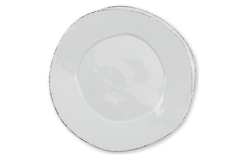 Lastra Dinner Plate, Light Gray