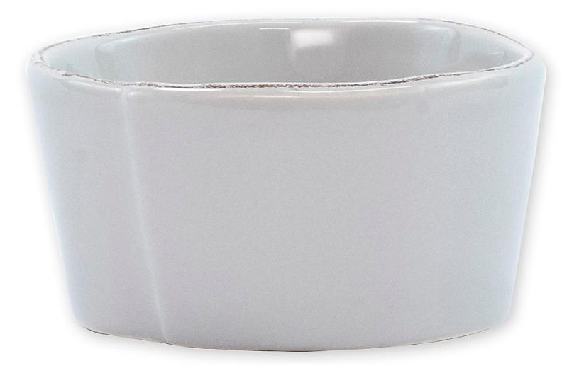 Lastra Condiment Bowl, Light Gray