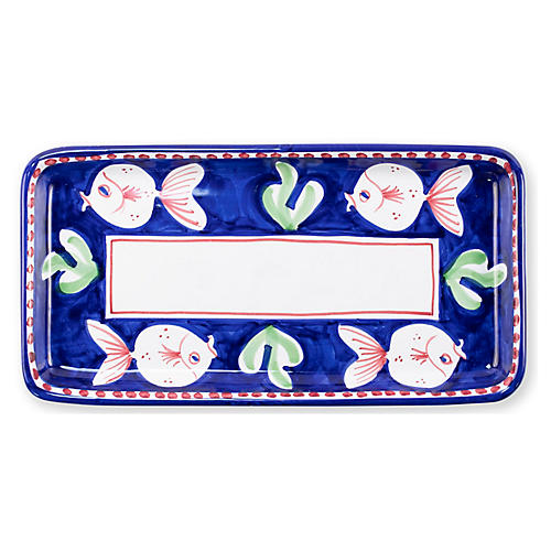 Pesce Rectangular Platter, White