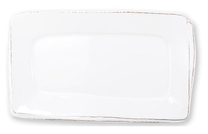 Lastra Fish Rectangular Melamine Platter, White