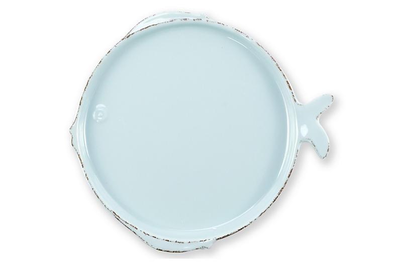 Lastra Fish Melamine Salad Plate, Aqua