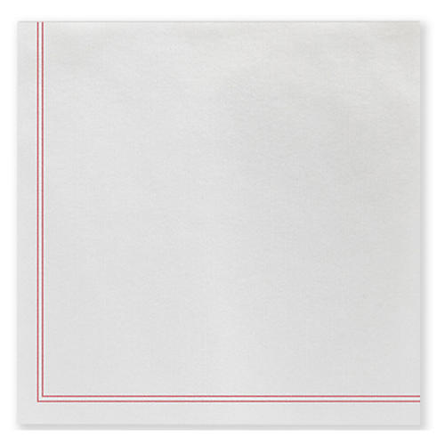 S/50 Papersoft Linea Dinner Napkins, Red