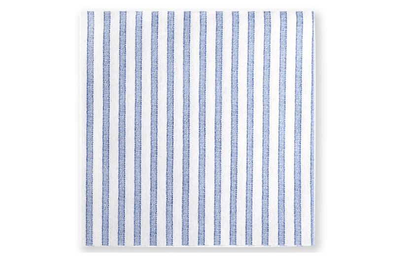 S/20 Papersoft Capri Cocktail Napkins, Blue
