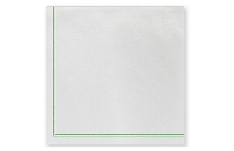 S/20 Papersoft Linea Cocktail Napkins, Green
