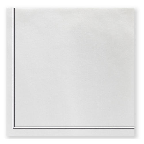 S/20 Papersoft Linea Cocktail Napkins, Light Gray