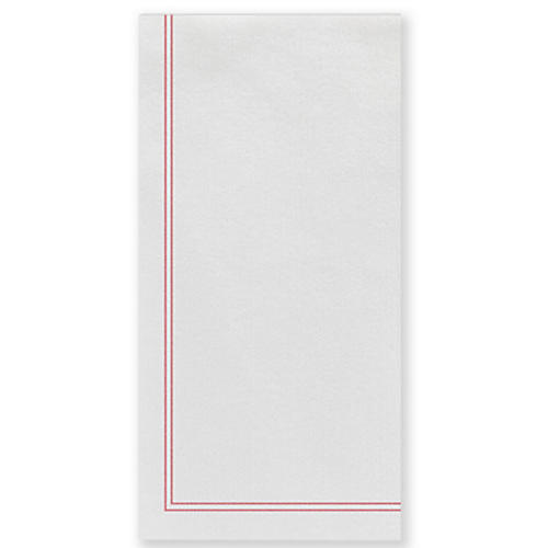 S/50 Papersoft Linea Guest Towels, Red