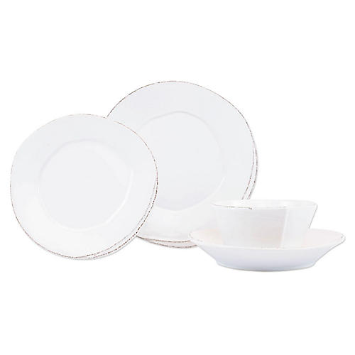 S/4 Lastra Place Setting, White