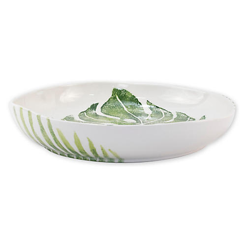 Into The Jungle Shallow Bowl, White