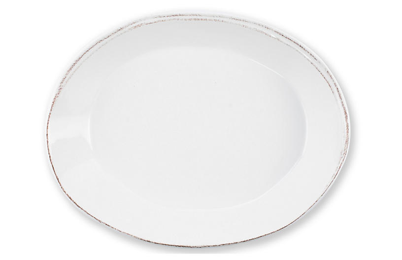 Lastra Small Platter, White