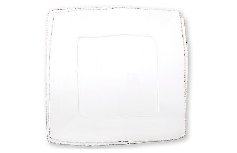 Lastra Square Platter, White