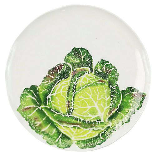Spring Vegetables Cabbage Salad Plate, White