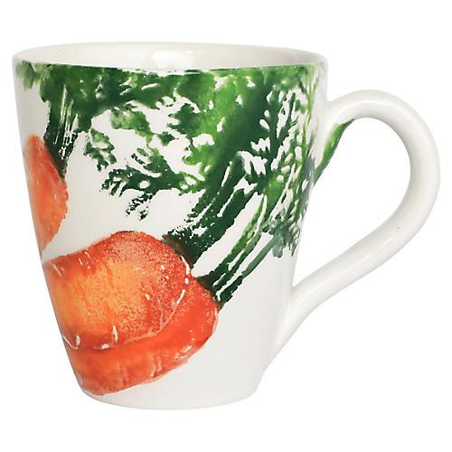 Spring Vegetables Carrot Mug, White