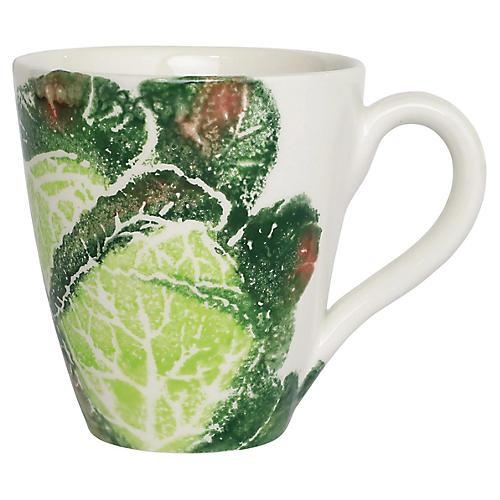 Spring Vegetables Cabbage Mug, White