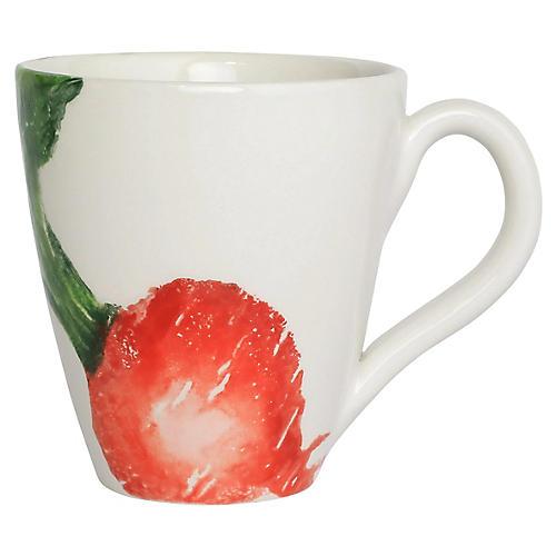 Spring Vegetables Radish Mug, White