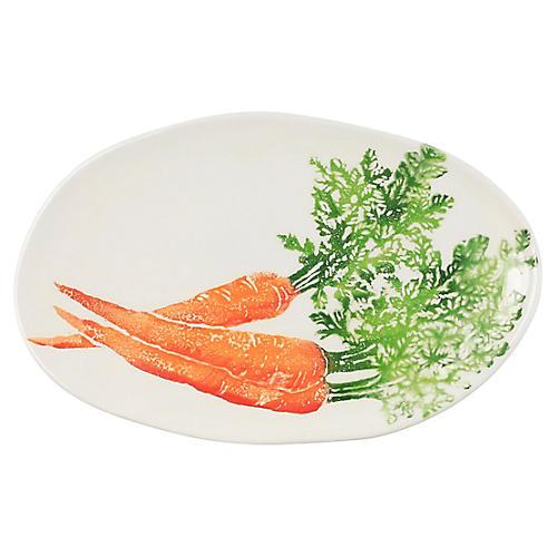 Spring Vegetables Carrot Platter, White