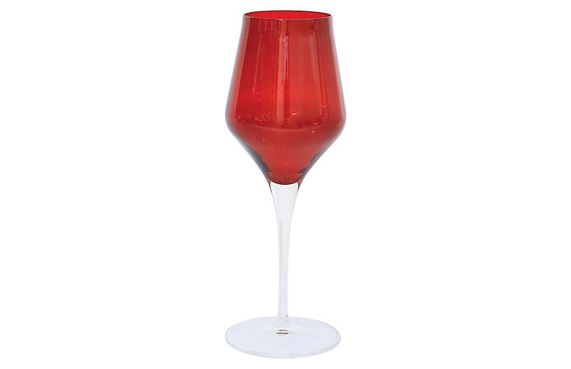 Contessa Wineglass, Red