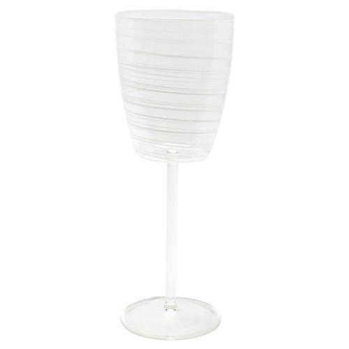 Swirl Wineglass, White
