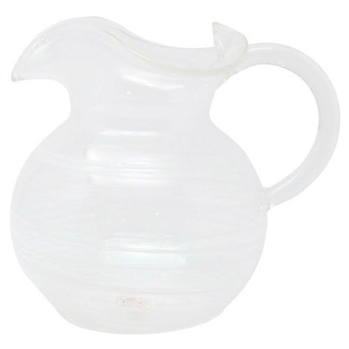Swirl Three-Spout Pitcher, White