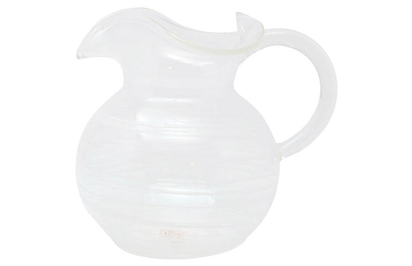 Swirl Three-Spout Pitcher, White