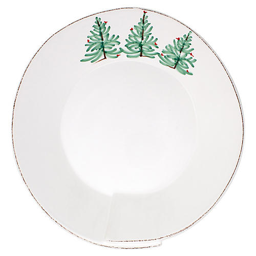 Lastra Holiday Shallow Serving Bowl, Ivory/Multi