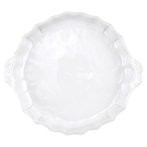 Incanto Stone Baroque Pie Dish, White