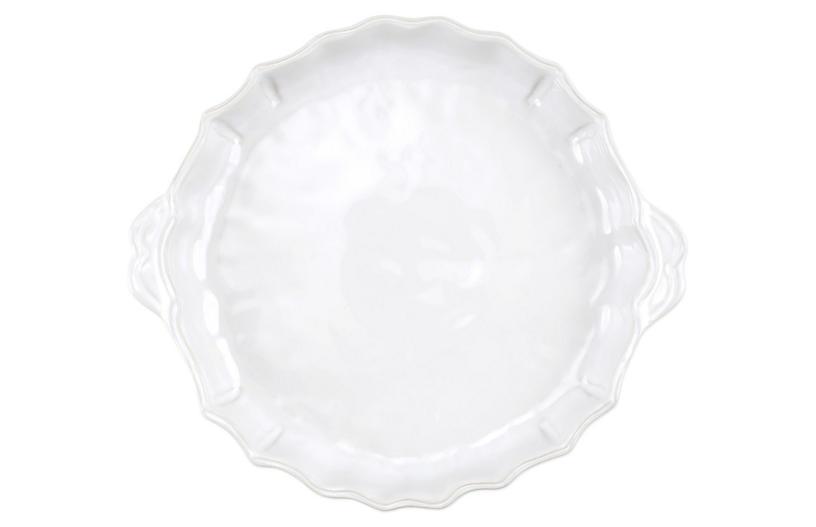 Incanto Stone Baroque Pie Dish, White