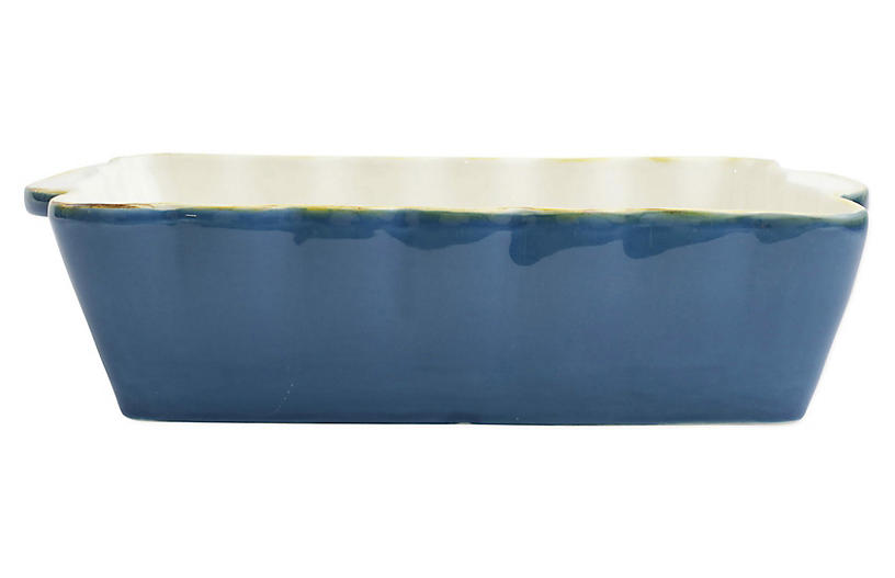 Italian Bakers Rectangular Baker, Blue