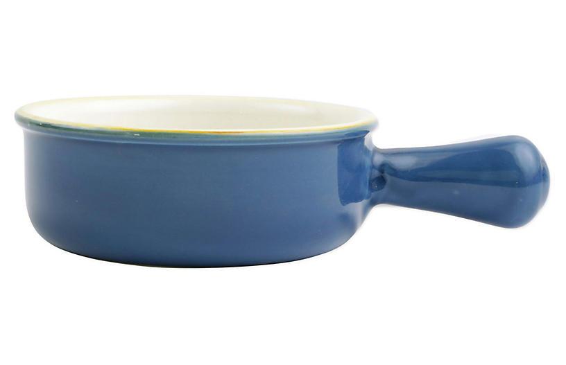 Italian Bakers Round Baker, Blue