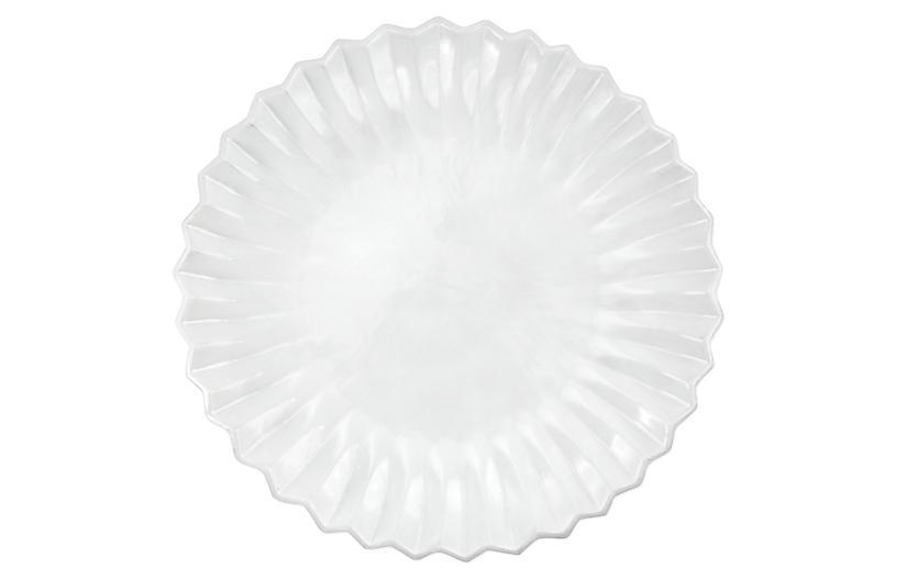 Incanto Pleated Dinner Plate, White