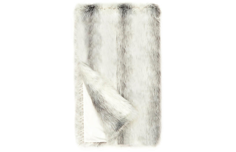 Dana Faux Fur Throw Icelandic Fox One Kings Lane