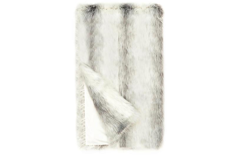 Dana Faux Fur Throw, Icelandic Fox