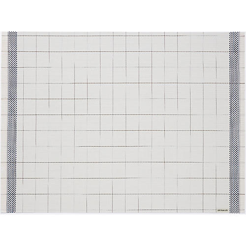 Selvedge Place Mat, Natural/Blue