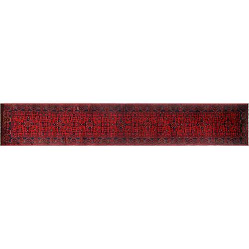 """2'7""""x15'11"""" Khal Mohammadi Khandan Runner, Red"""