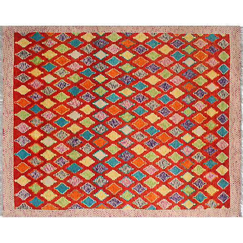 "5'8""x7'5"" Baluchi Anna Rug, Rust/Yellow"
