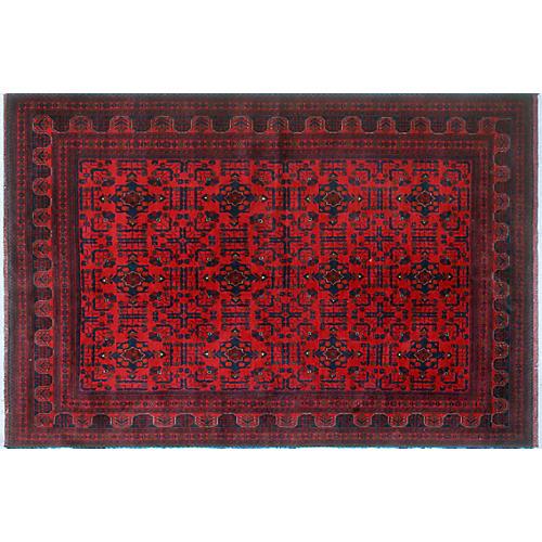"""6'6""""x9'6"""" Khal Mohammadi Firouzeh Rug, Red/Blue"""