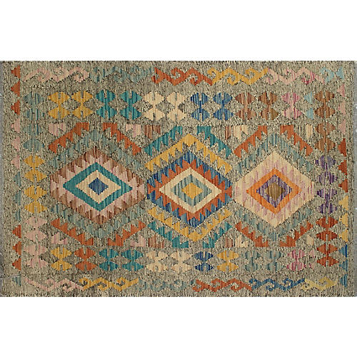 "3'3""x4'10"" Eliana Kilim, Brown/Rust"