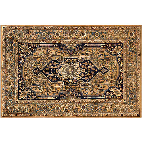 "8'10""x6' Maliah Faded Rug, Rust/Blue"