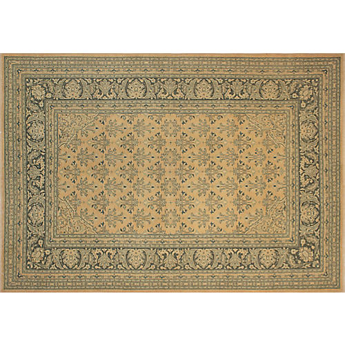 "8'10""x6'2"" Kaylin Faded Rug, Tan/Green"