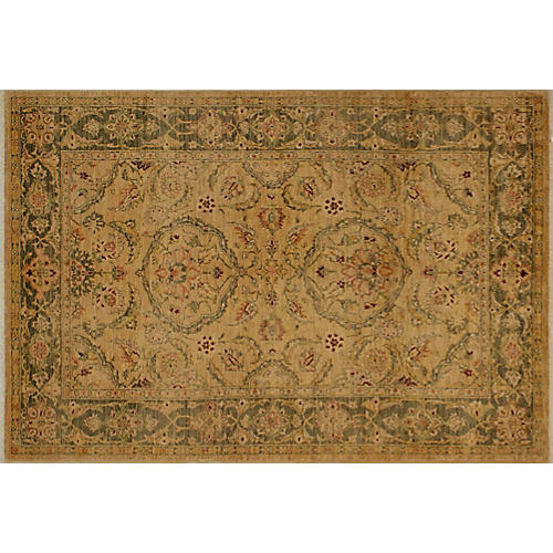 "5'11""x8'8"" Mathias Rug, Gold/Light Green"
