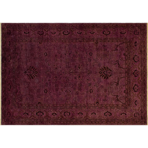 "9'1""x6'5"" Lillianna Overdyed Rug, Purple"