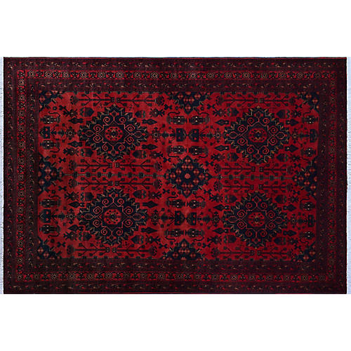"6'8""x10' Kaiya Rug, Red/Black"