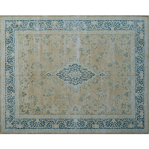 "9'8""x12'11"" Karlee Rug, Gold/Blue"