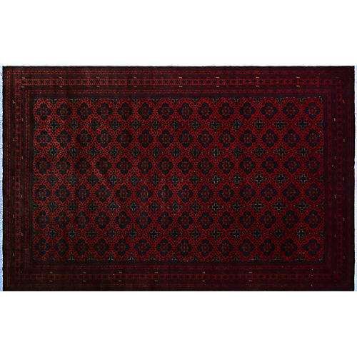 """9'10""""x16'2"""" Audrina Rug, Red/Blue"""