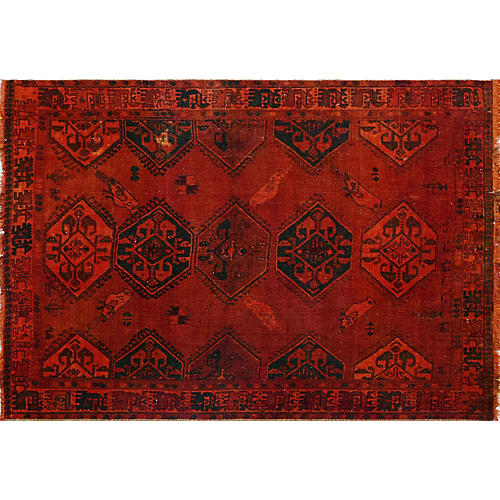 "4'5""x6'2"" Tegan Rug, Red/Black"