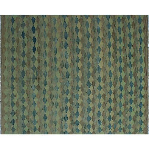 "8'2""x9'9"" Winchester Jannette Rug, Green/Blue"