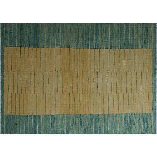 """9'9""""x13'4"""" Winchester Jeanetta Rug, Gold/Blue"""