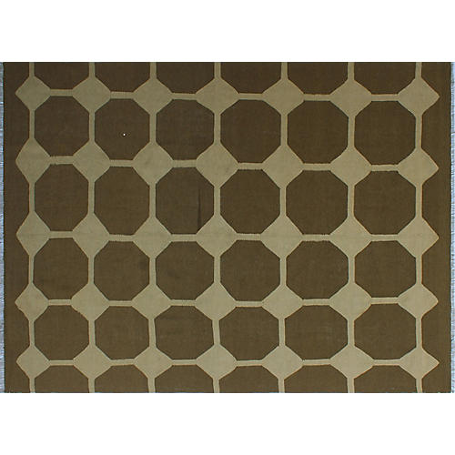 "8'10""x11'11"" Winchester Jenifer Rug, Brown/Ivory"